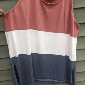 Striped Woven Tank Top
